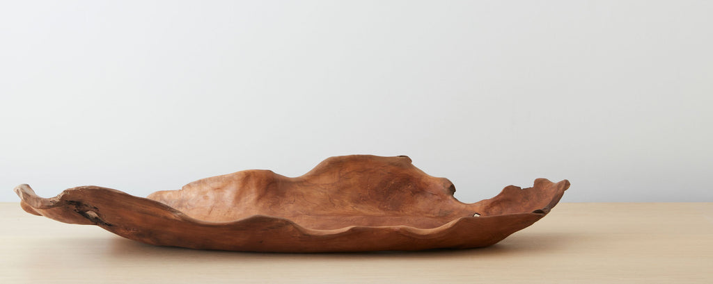 leaf-shaped wood tray