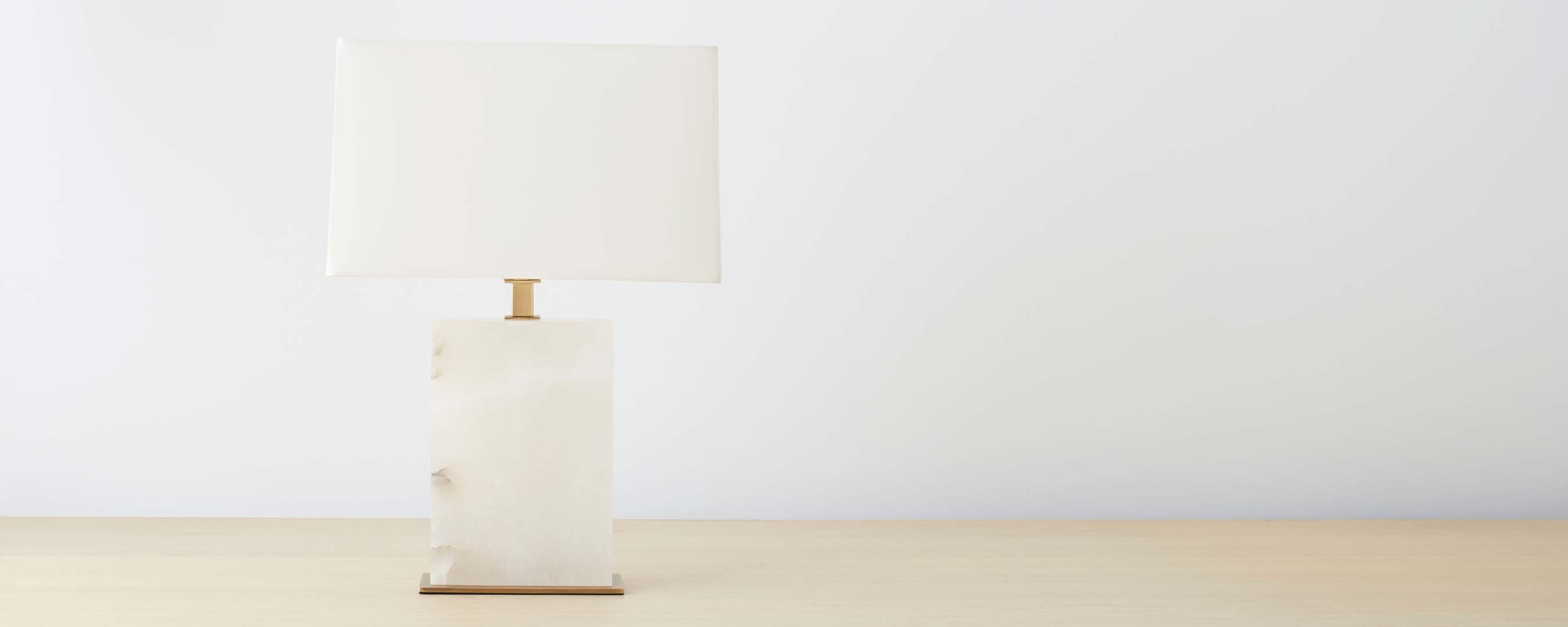 marble table lamp with brass base