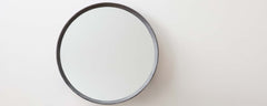 faux shagreen cool gray mirror