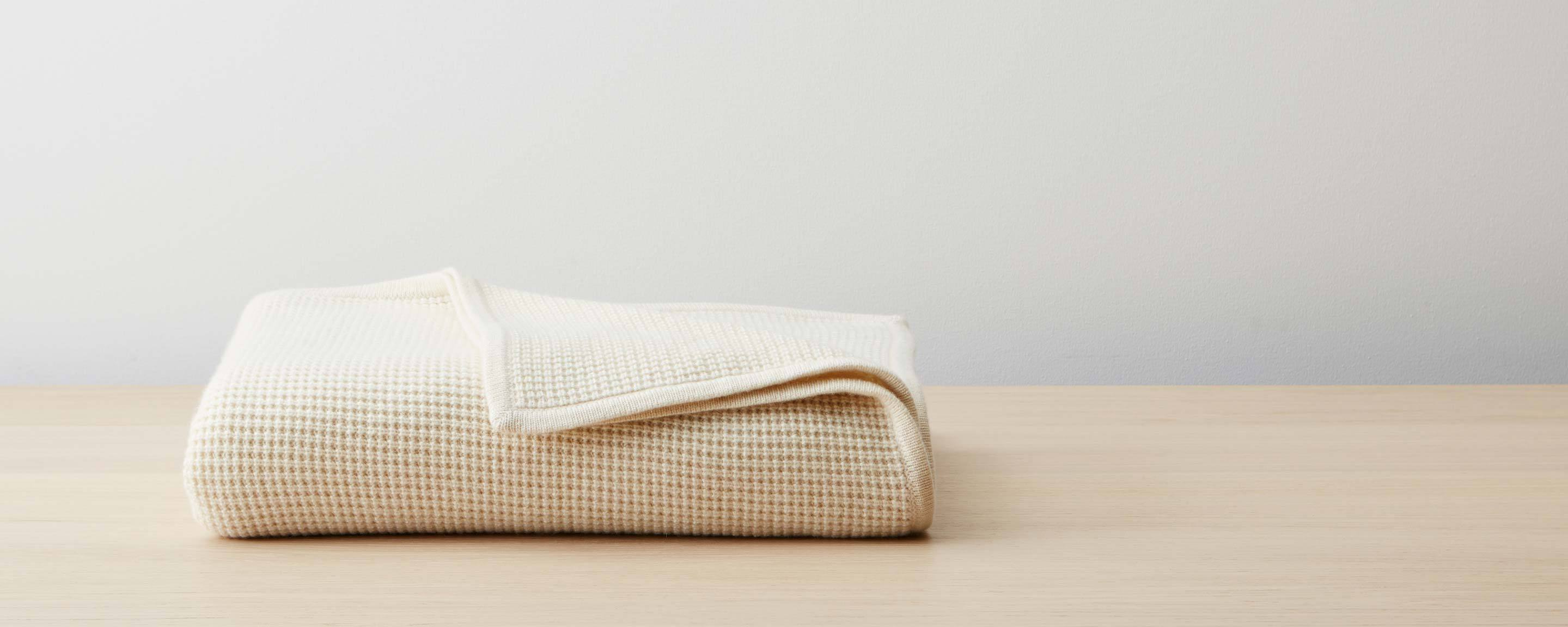 thermal cashmere throw - ivory