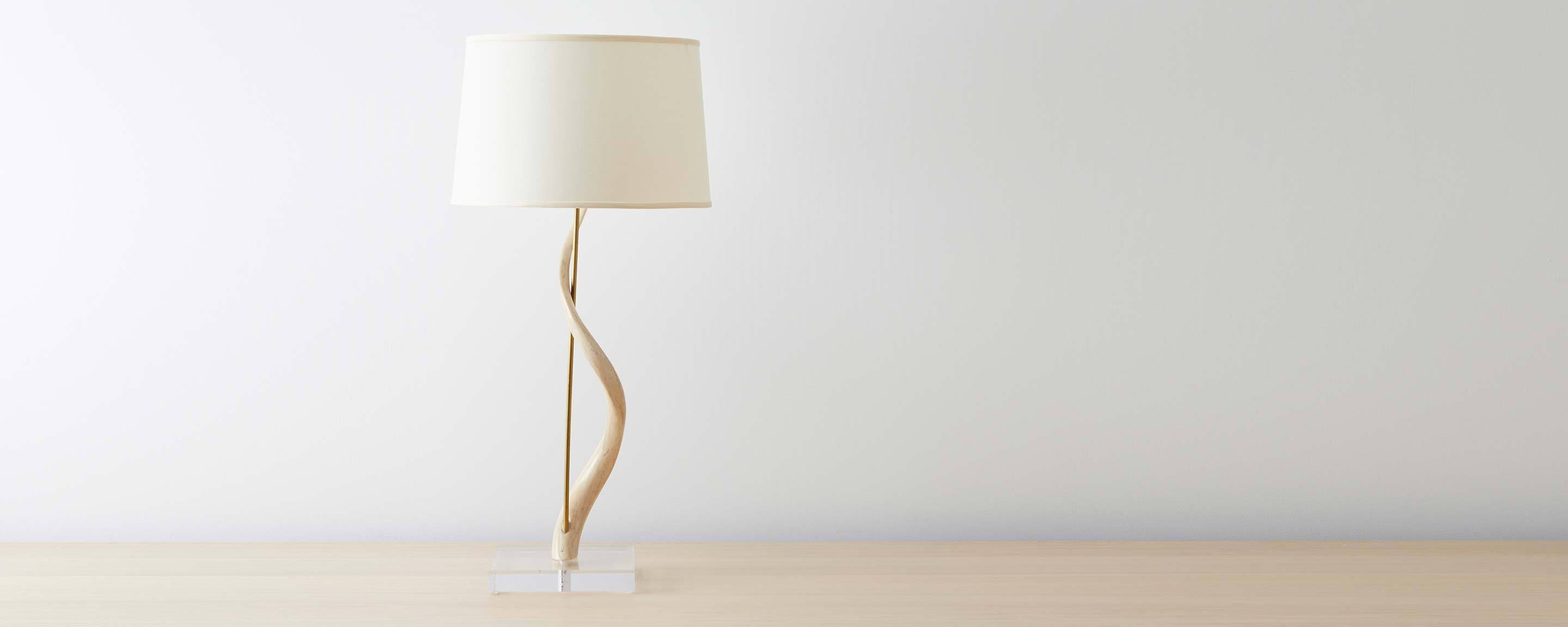 Kudu horn table lamp homenature kudu horn table lamp mozeypictures Images