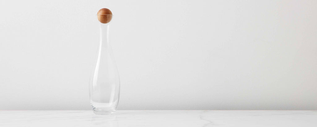 wine and water carafe