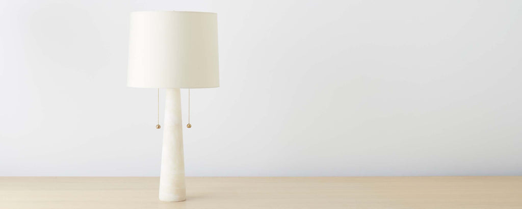 midcentury marble table lamp