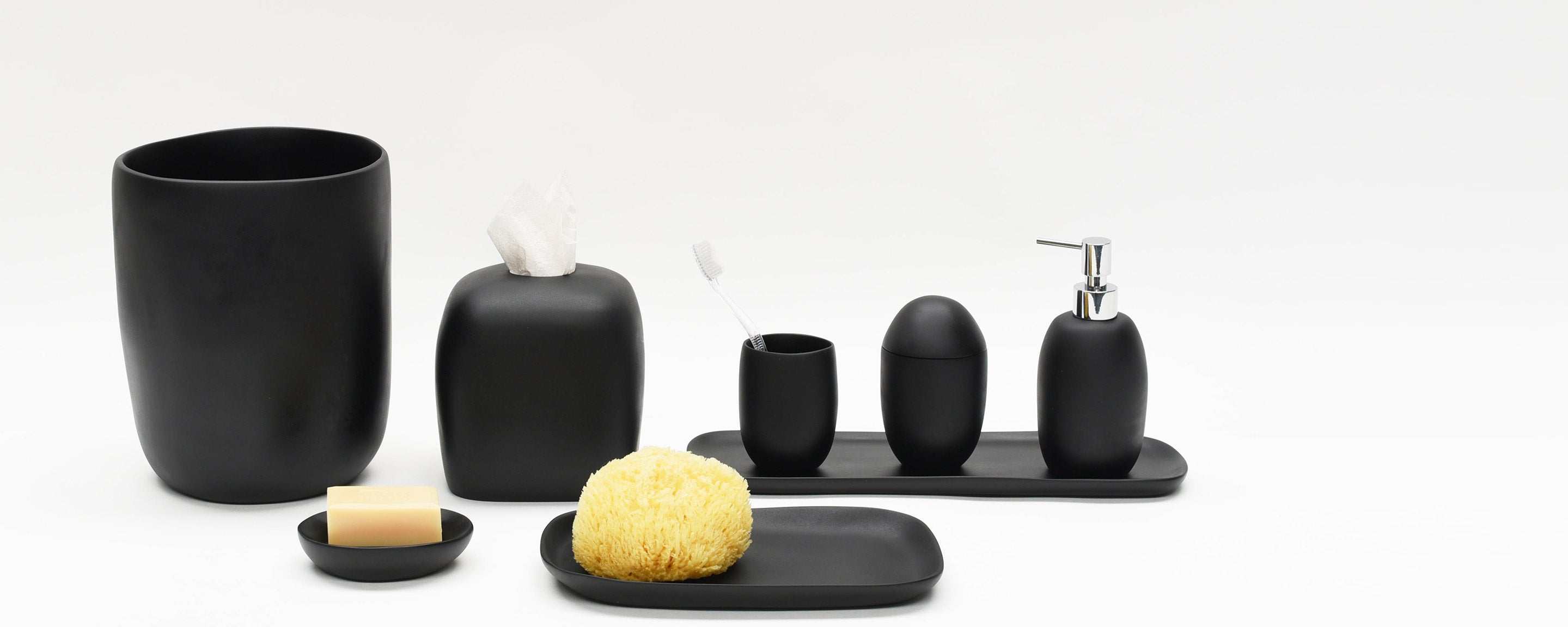 black resin bath collection by tina frey