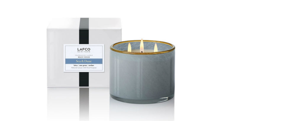 sea & dune beach house triple wick candle by lafco new york