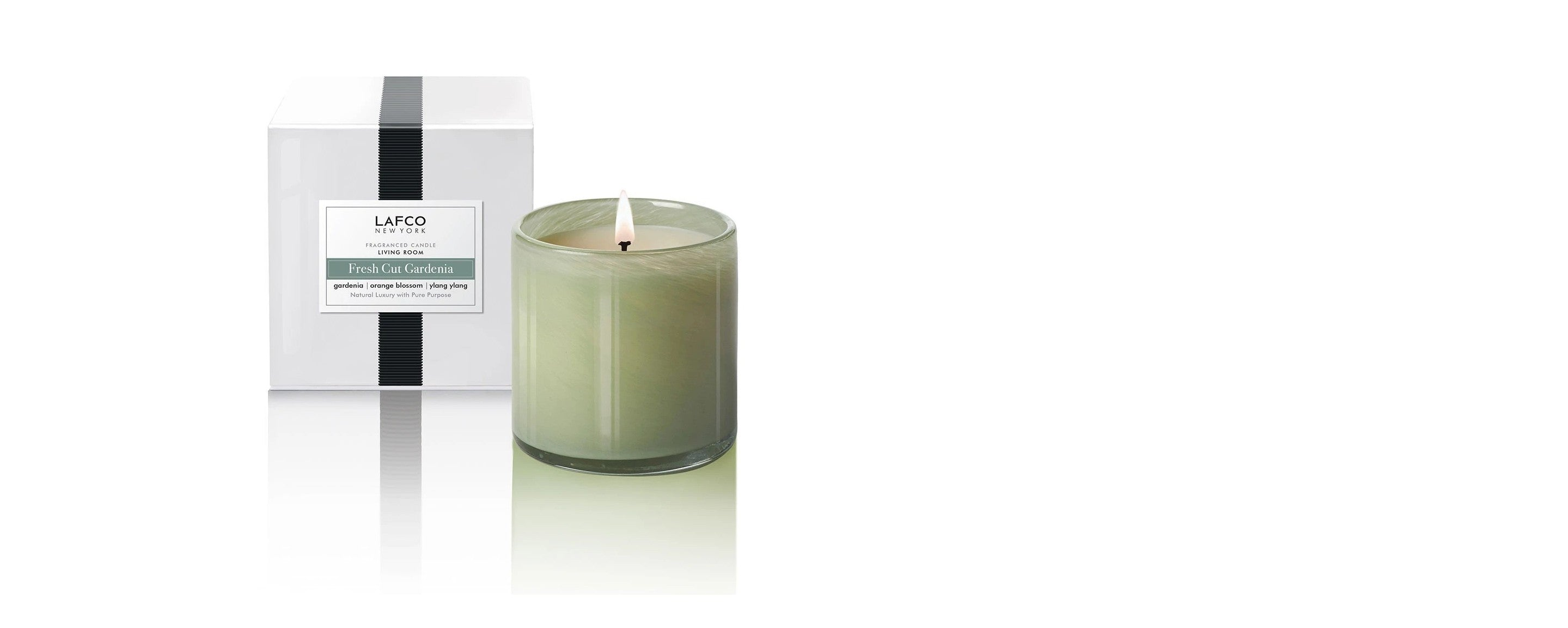 fresh cut gardenia living room candle by lafco new york