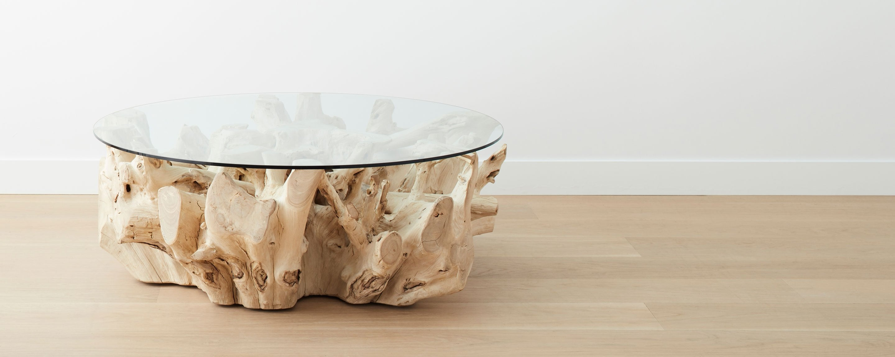 Bleached Teak Root Round Coffee Tables At Homenature Stores