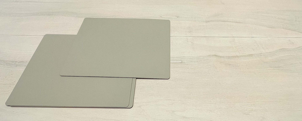 recycled leather grey placemat