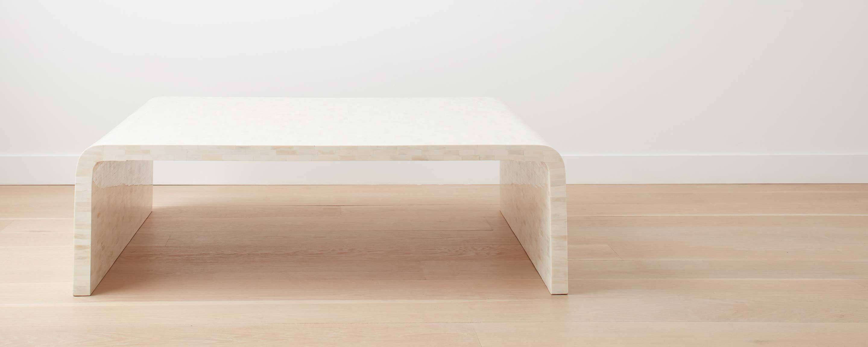 bone waterfall coffee table