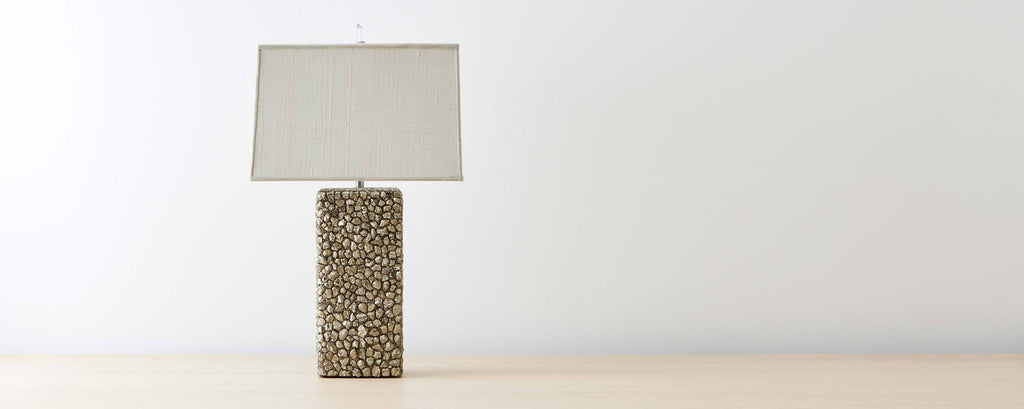 pyrite mineral table lamp