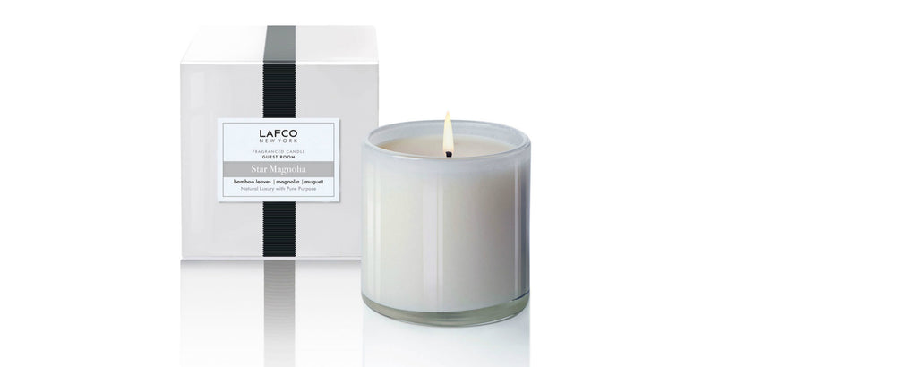 star magnolia guest room candle by lafco new york