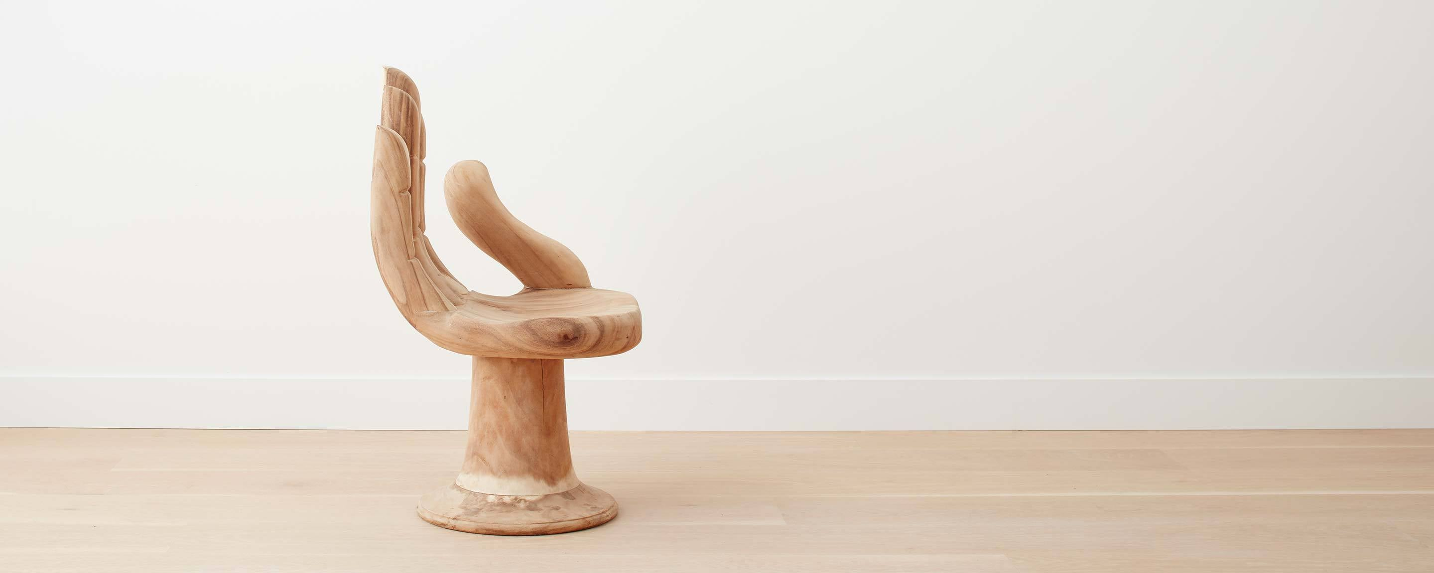 the teak hand chair