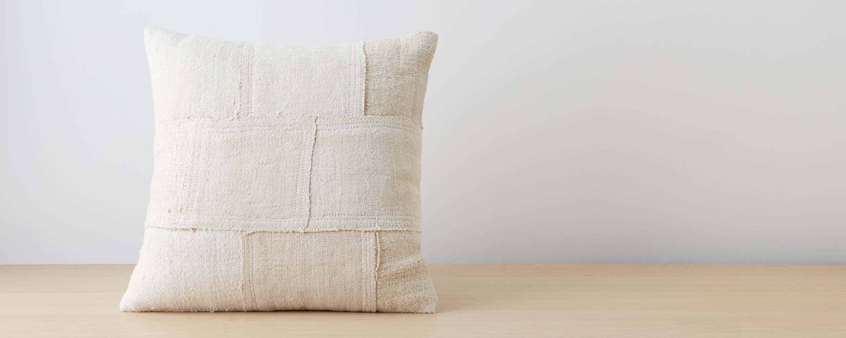 hemp patchwork pillow