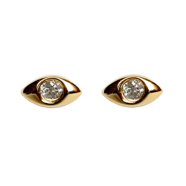 Diamond Mati Eye Earrings - Bianca Milov Jewelry