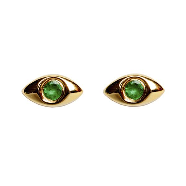 Emerald Mati Earrings - Bianca Milov Jewelry