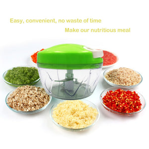 Pull String Chopper Manual Food Processor