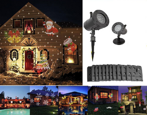 Christmas Home Decoration Projector Lights [12 Patterns]