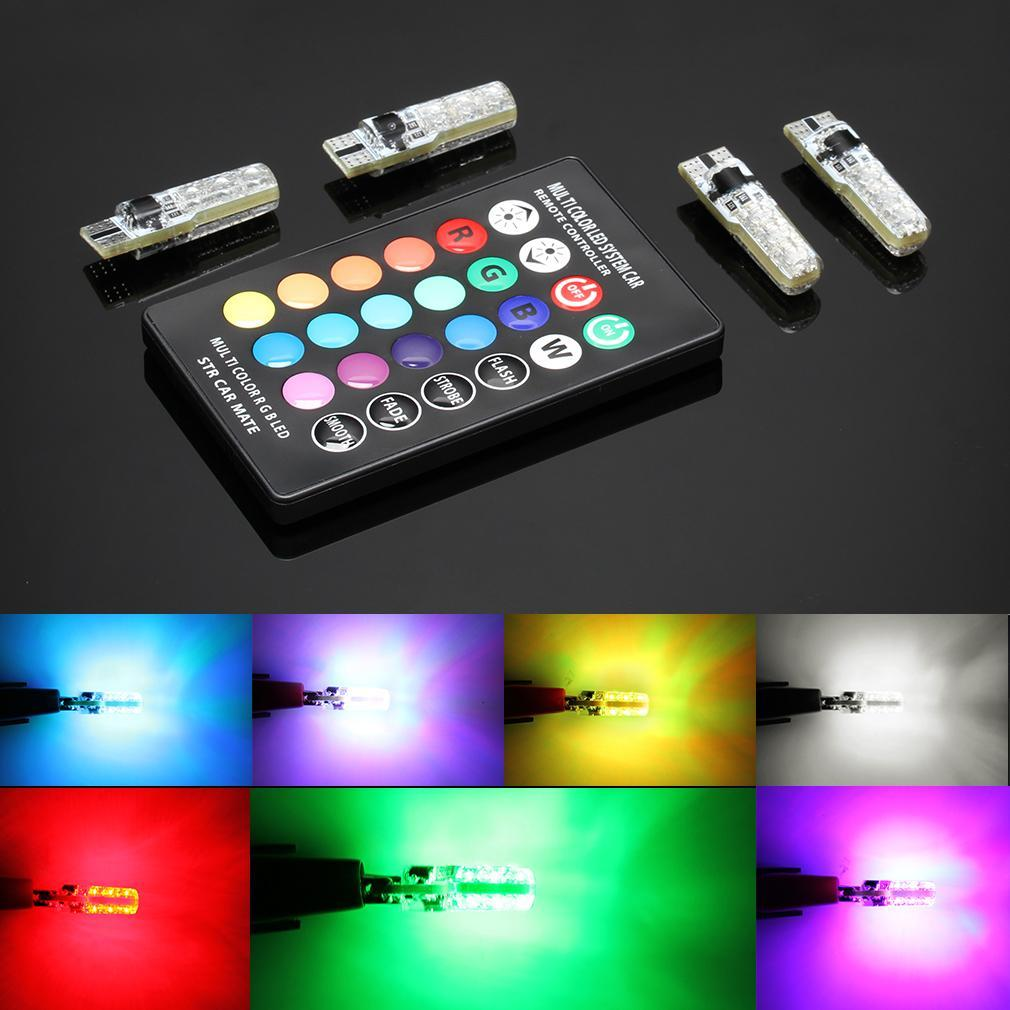 T10 LED RGB Bulbs with Remote Control