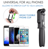 4 in 1 Selfie Stick Tripod  With Bluetooth Remote