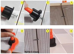Reusable Anti-Lippage Tile Leveling System (50 Pieces)
