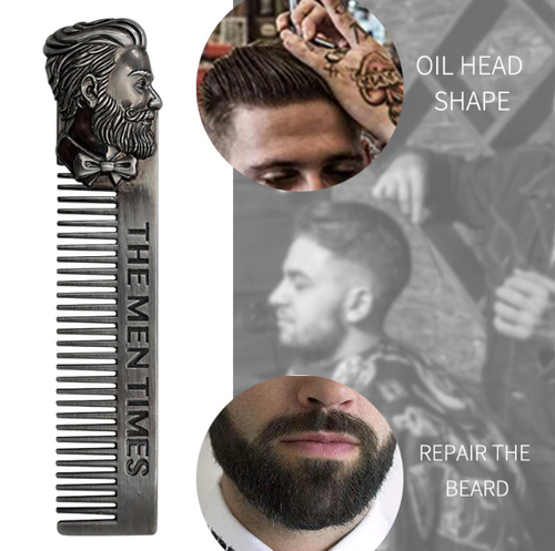 Premium Stainless Steel Beard Comb