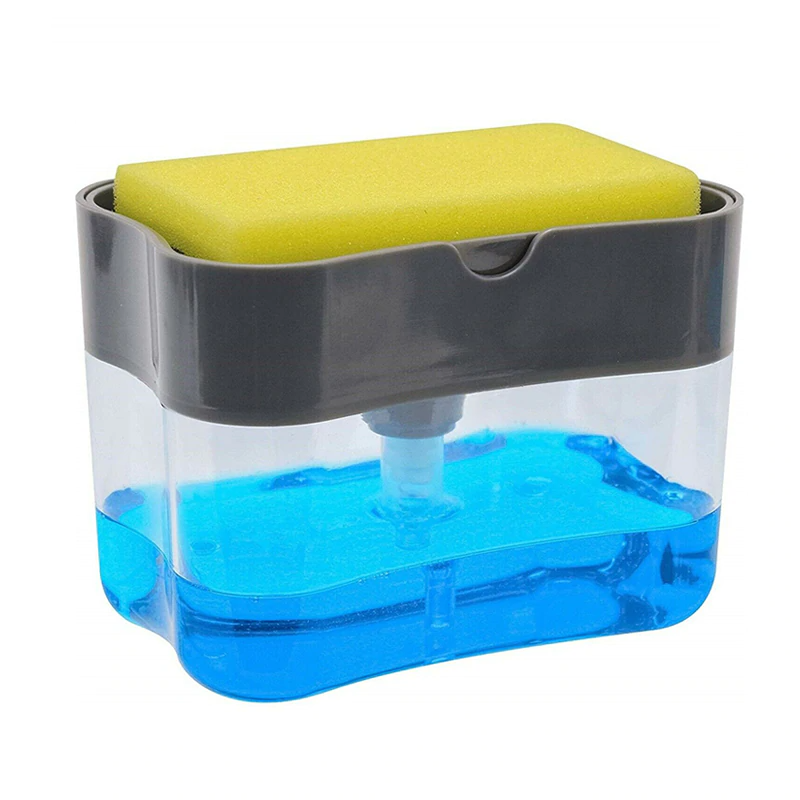 [2 in 1] Soap Dispenser Pump with Sponge Holder