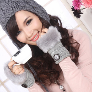 Cozy Tribal Style Fingerless Gloves