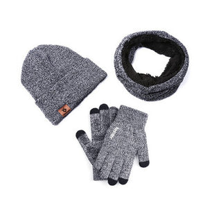 3PCS Winter Set (Gloves, Scarf & Beanie)