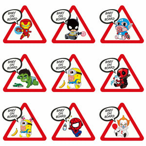 "Superhero ""Baby on Board"" Car Sticker"