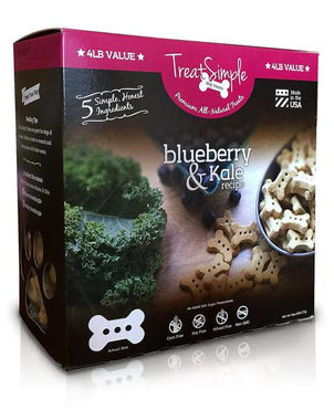 "TreatSimple Blueberry Kale 1.5"" Bones (4 lb)"