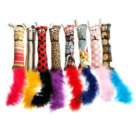 PetCandy Land Catnip Filled Squirrels with Feathers