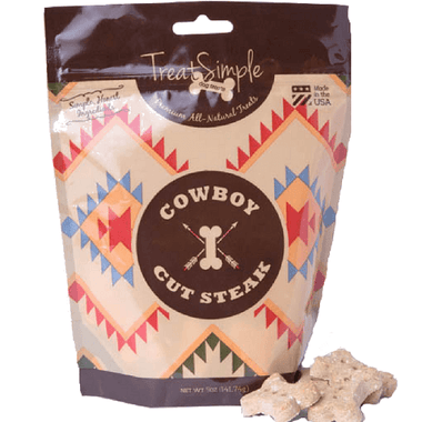 TreatSimpe Cowboy Cut Steak Dog Treats (5 oz)
