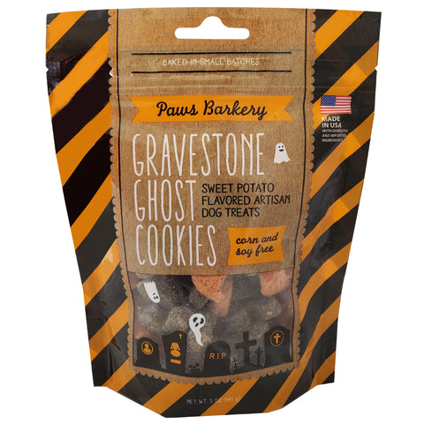 Gravestone Ghost Cookies - Paws Barkery (5 oz)