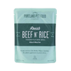 Rosie's Beef N' Rice Dog Pouch Meal - USA Sourced & Made (9 oz)