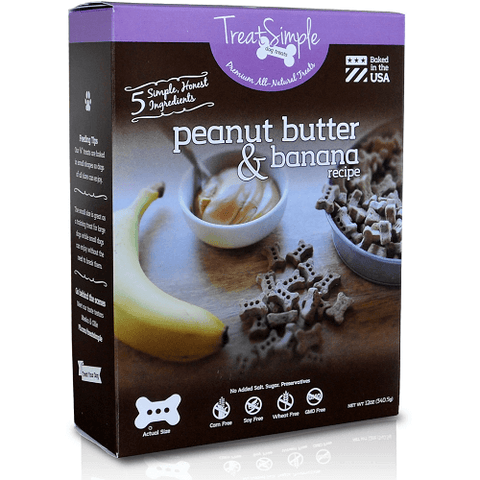 TreatSimple Peanut Butter & Banana Small Dog Bones (12 oz)