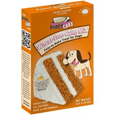 Puppy Cake with Icing - Peanut Butter