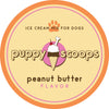 Peanut Butter Puppy Scoops Ice Cream for Dogs