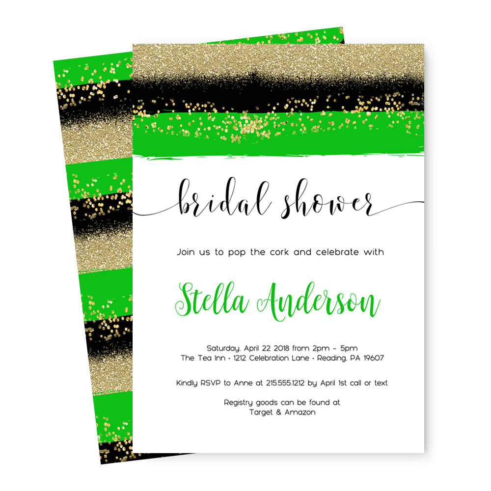 Gorgeous Shamrock Bridal Shower Invitations