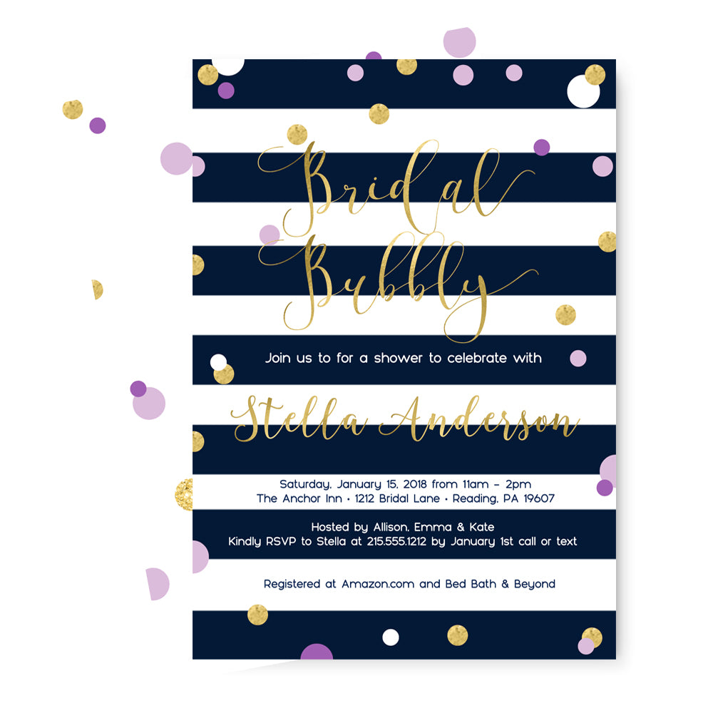 Dazzling Ink Bridal Shower Invitations