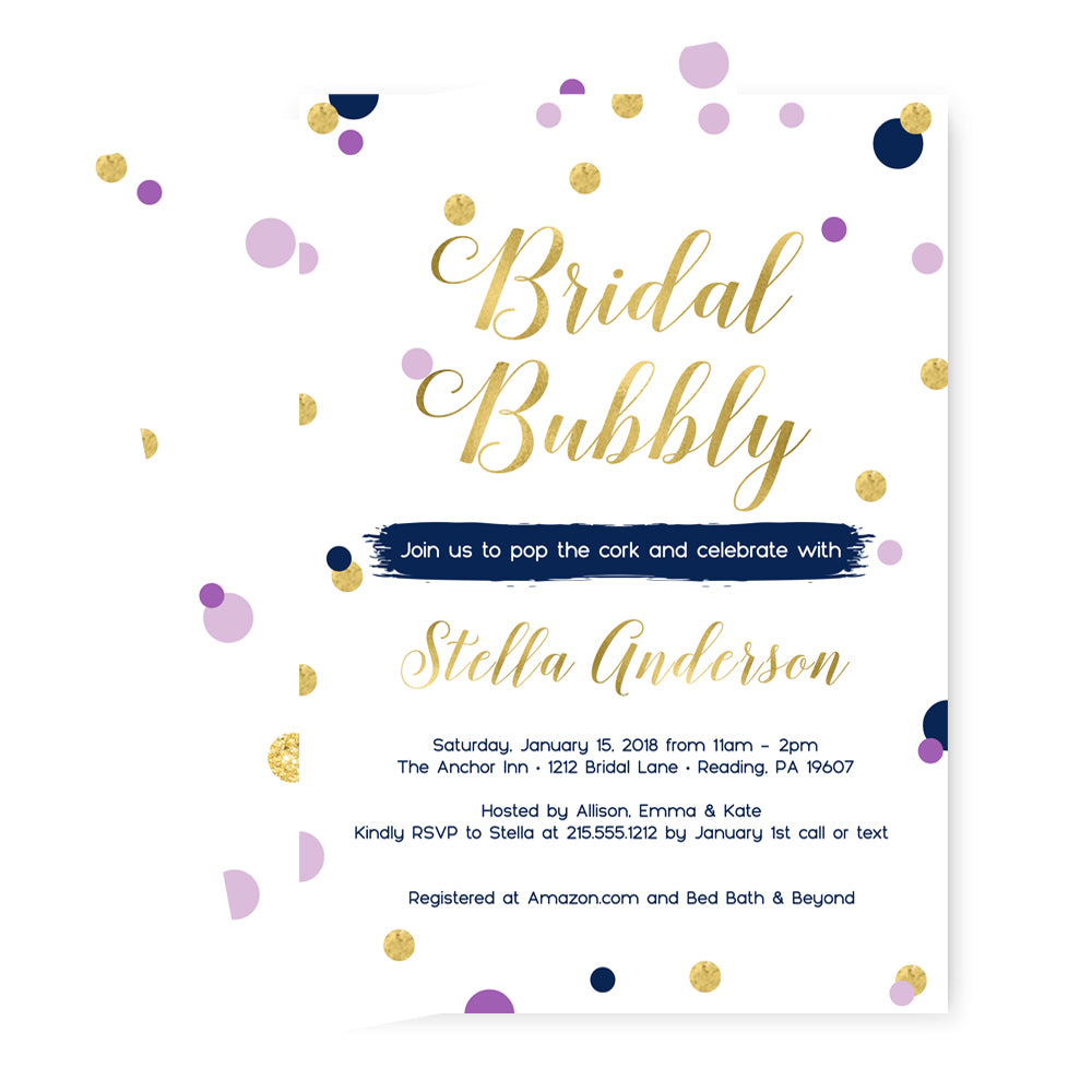 Dazzling Dot Bridal Shower Invitations