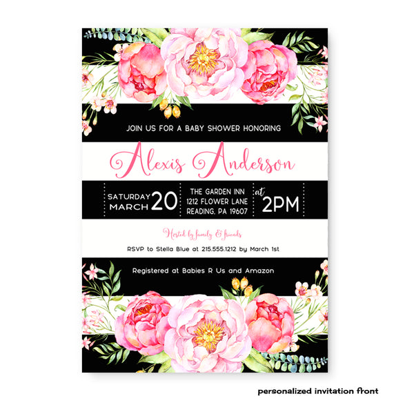 Twins Gender Reveal Party Invitations