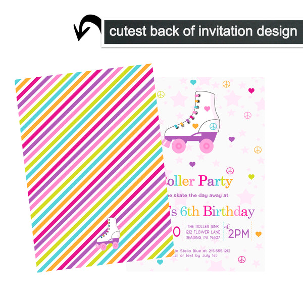 Cheerful Floral Baptism Invitations