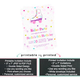 Abstract Be My Bridesmaid Scratch Off Cards Pop the Question (6 Pack) Gold and Black