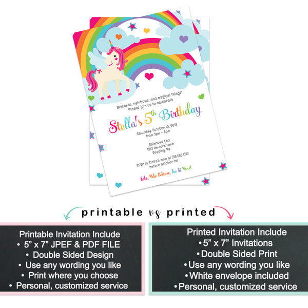 Inked Stripe Kids Baptism Invitation