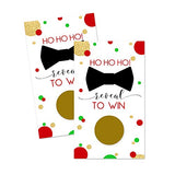 Festive Scratch Off Cards (28 Pack) Christmas Party Game for Holiday Events - Groups, Kids and Adult - Jolly Fun Raffle Tickets for Prize Drawings - Red and Green