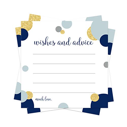 Abstract Advice Cards (25 Pack) Boys Baby Shower Games