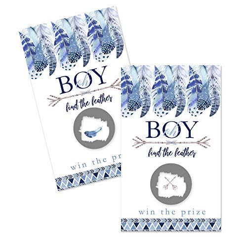 Paper Clever Party Adventure Awaits Scratch Off Cards (30 Pack) Game for Boys Baby Shower - Drawing Prizes - Raffles Tickets - Fun Favors - Conversation Starter