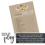 Harvesting Sunflower Thanksgiving Party Game Pack (25 Cards) Party Game Pack (25 Cards) Word Scramble - Fun Unscramble Activity for Family, Groups, Guest, Kids, Friends, Kids - Friendsgiving