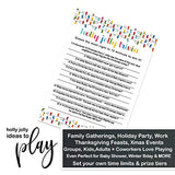 Festive Christmas Party Game (25 Pack) Holiday Trivia Cards - Fun Merry Xmas Guessing Activity - Adults, Kids, Groups, Family, Friends, Coworkers - Colorful Lights(Version 3)