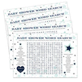 Star Baby Shower Game Word Search and Find (25 Pack)